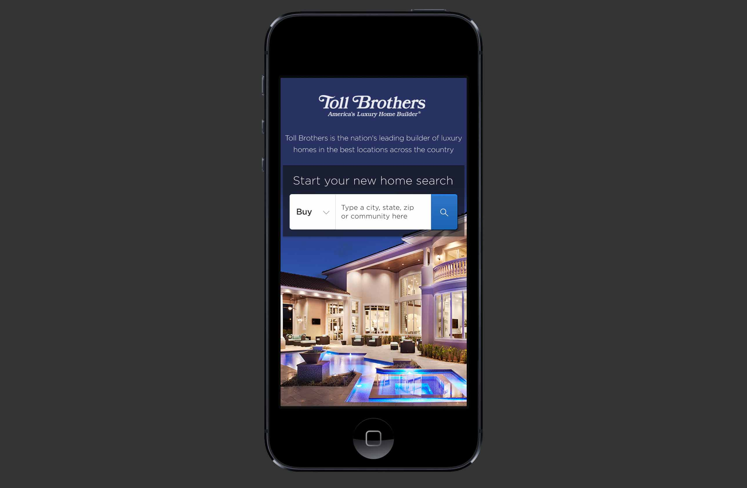 Toll Brothers iOS/Android Application
